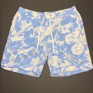 Onia Hawaiian Print Swim Trunk. Size XL very nice.